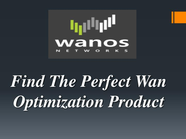 Find The Perfect Wan Optimization Product