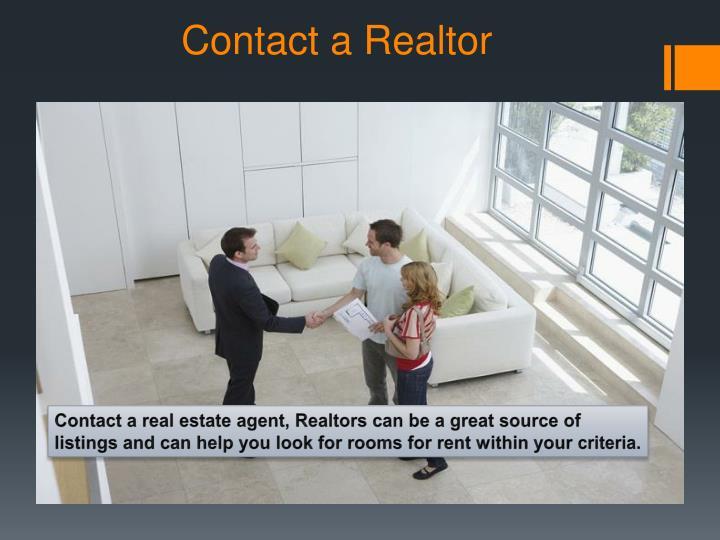 Contact a realtor