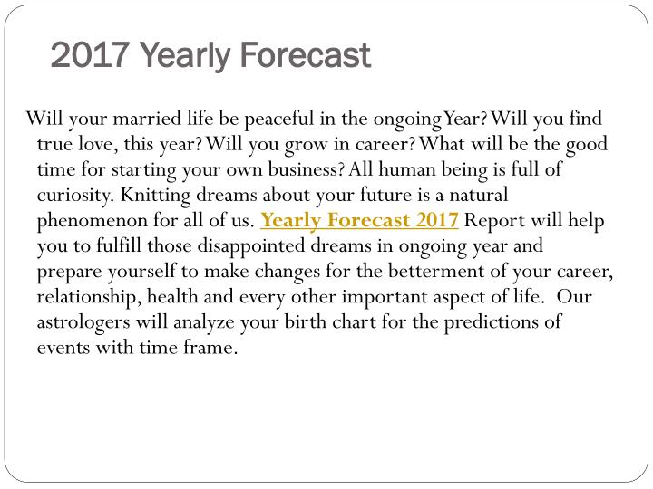2017 yearly forecast