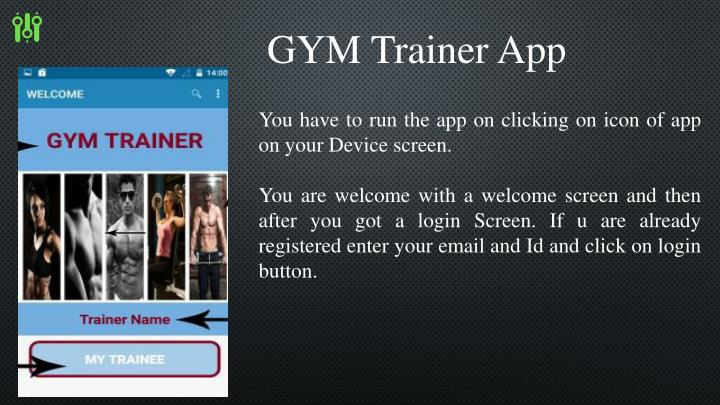 GYM Trainer App