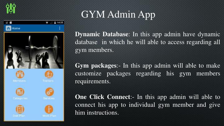 GYM Admin App