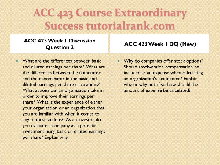 ACC 423 Week 1 Discussion Question 2