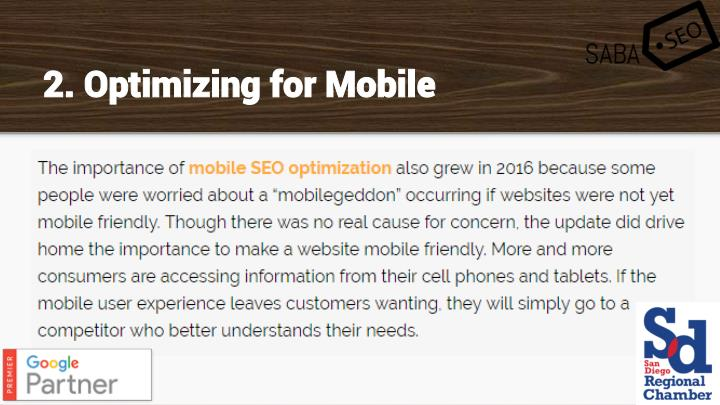 2. Optimizing for Mobile
