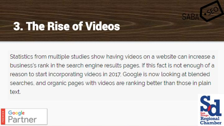 3. The Rise of Videos