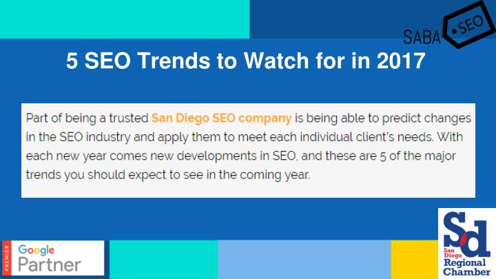 5 SEO Trends to Watch for in 2017