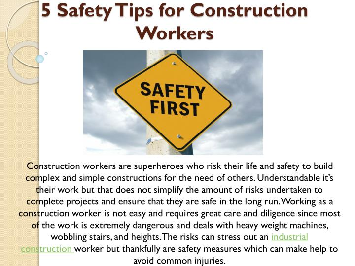 5 safety tips for construction workers