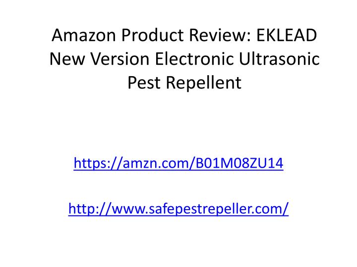 amazon product review eklead new version electronic ultrasonic pest repellent n.
