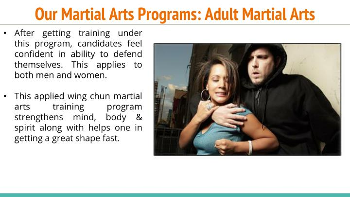 Our Martial Arts Programs: Adult Martial Arts