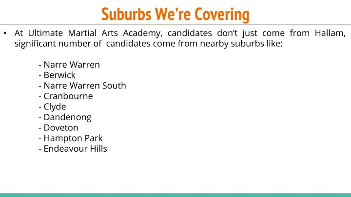 Suburbs We're Covering