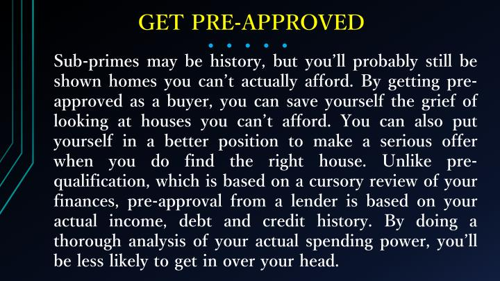 GET PRE-APPROVED