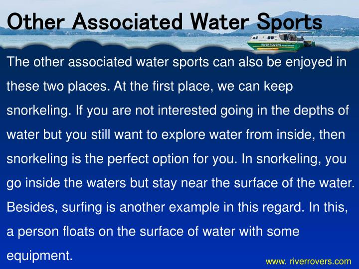 Other Associated Water Sports