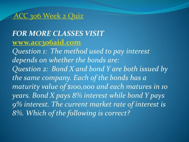 ACC 306 Week 2 Quiz