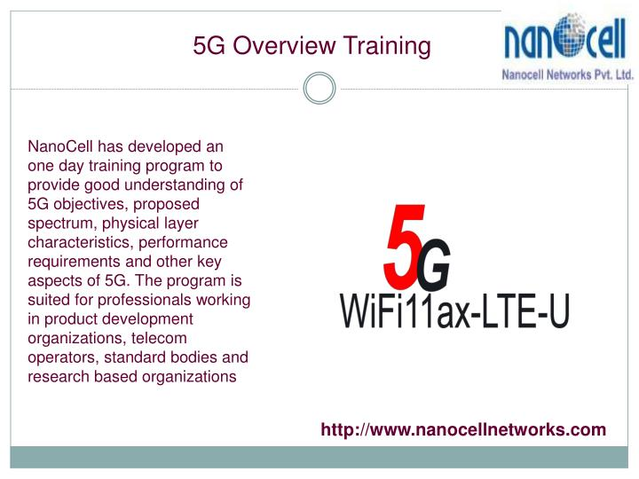 5G Overview Training