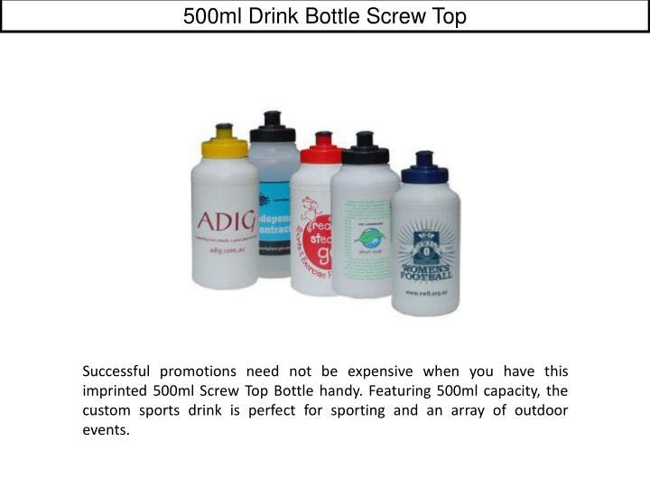 500ml Drink Bottle Screw Top
