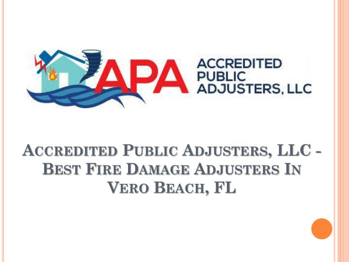 Accredited public adjusters llc best fire damage adjusters in vero beach fl