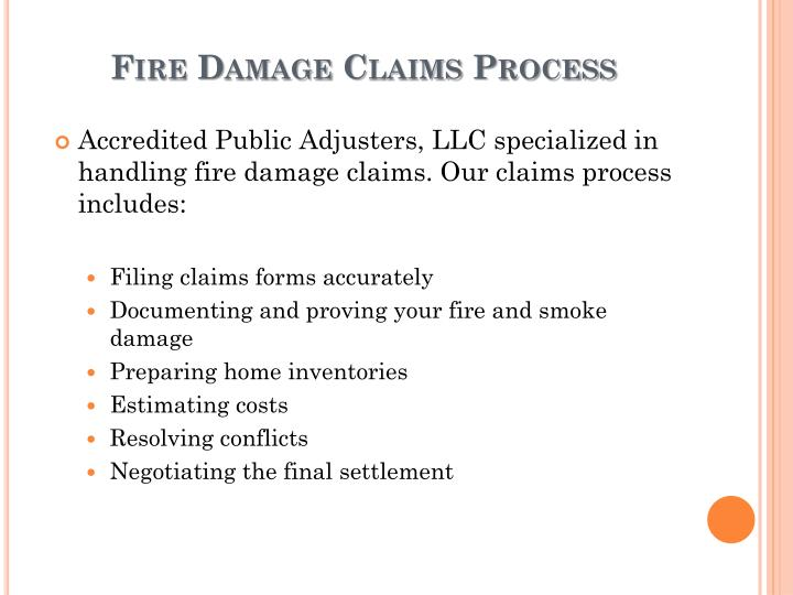 Fire Damage Claims Process