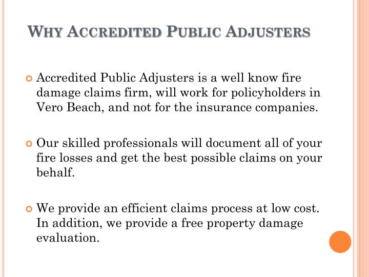 Why Accredited Public Adjusters