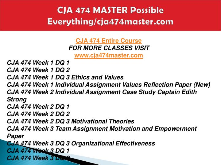 Cja 474 master possible everything cja474master com1
