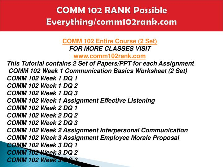 Comm 102 rank possible everything comm102rank com1