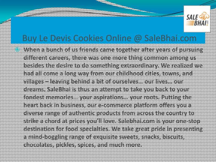 Buy Le Devis Cookies Online @ SaleBhai.com