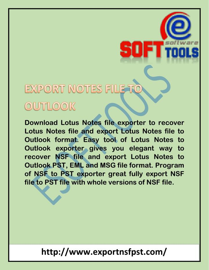 Download Lotus Notes file exporter to recover