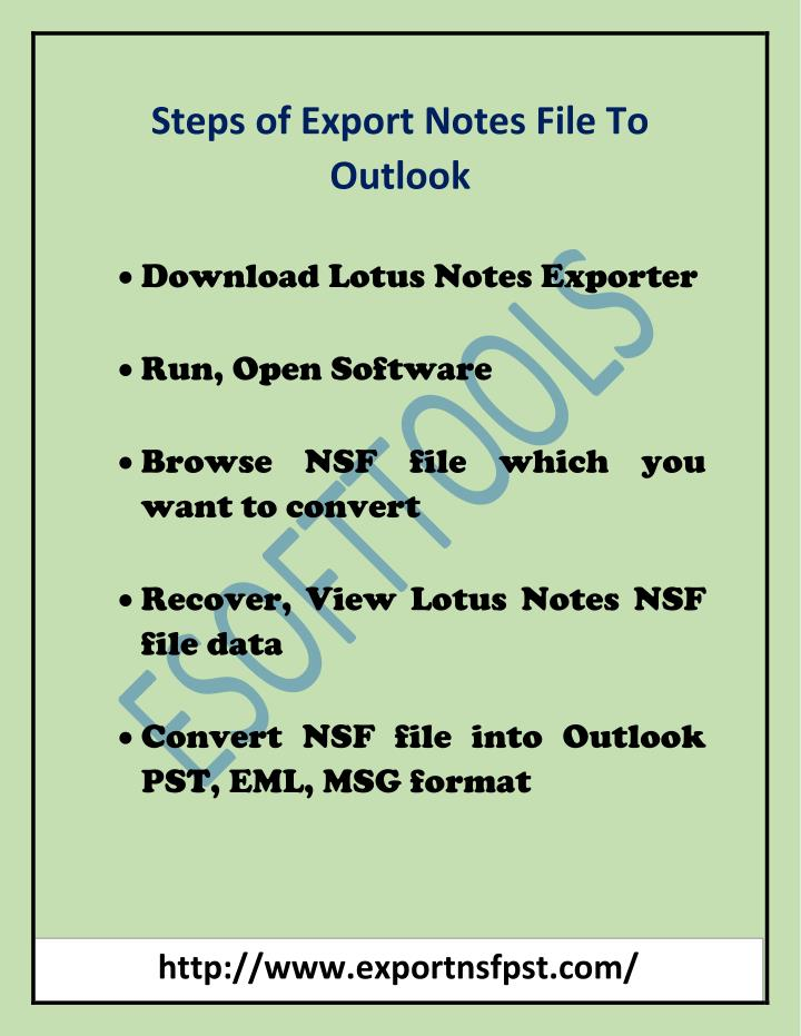 Steps of Export Notes File To