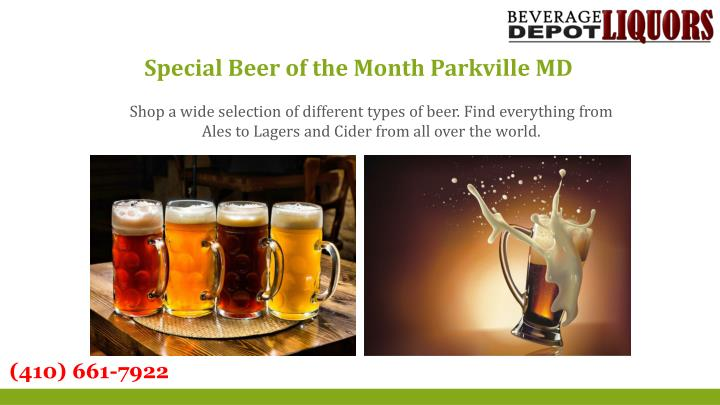 Special Beer of the Month Parkville MD