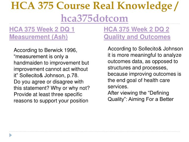 HCA 375 Course Real Knowledge /