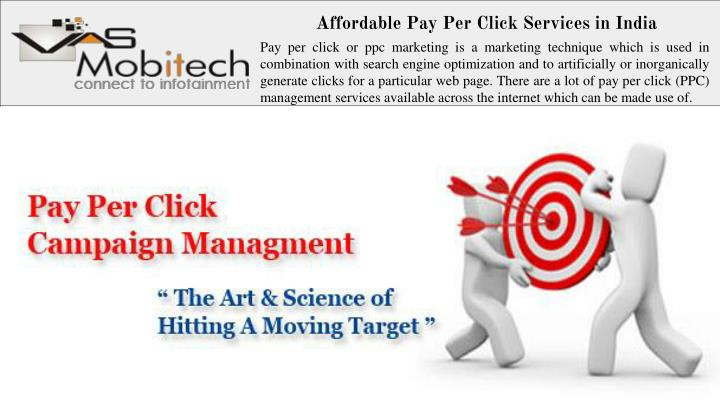 Affordable Pay Per Click Services in India