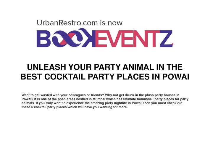 Unleash your party animal in the best cocktail party places in powai