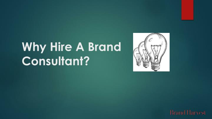 why hire a brand consultant n.
