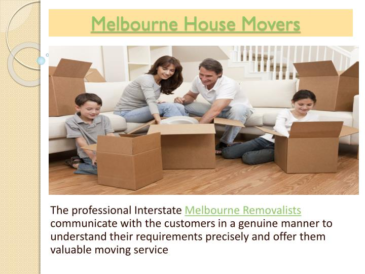 Melbourne house movers