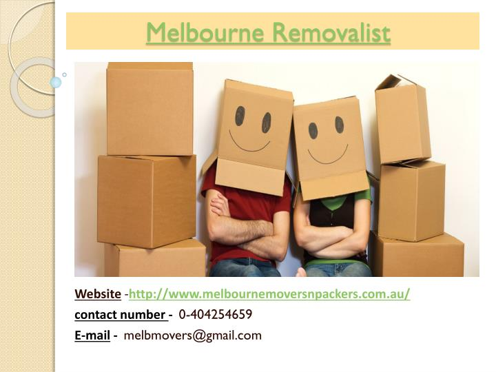 Melbourne Removalist