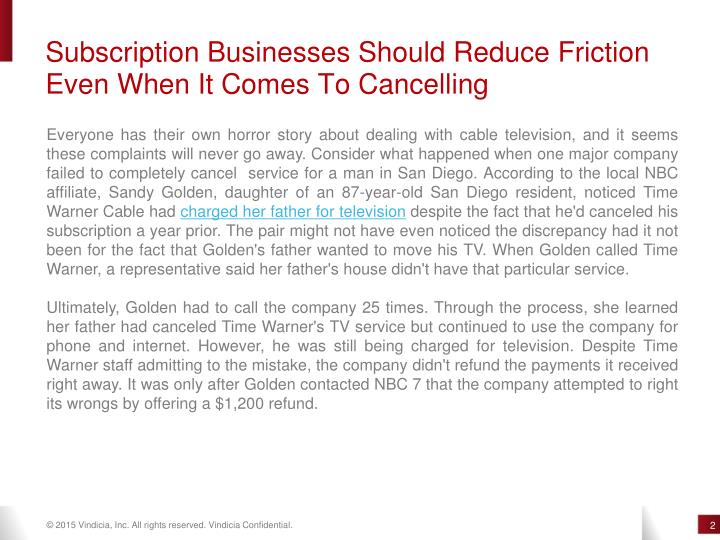 Subscription Businesses Should Reduce Friction