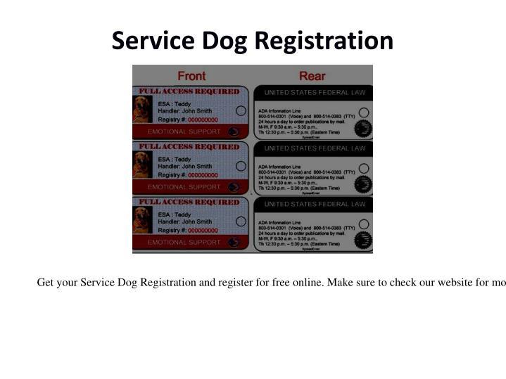 Service Dog Registration