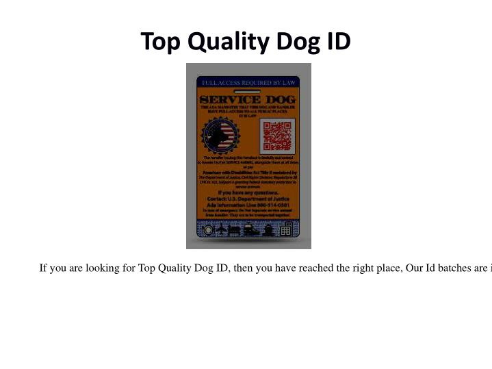 Top quality dog id