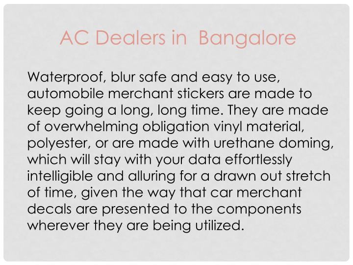 AC Dealers in  Bangalore