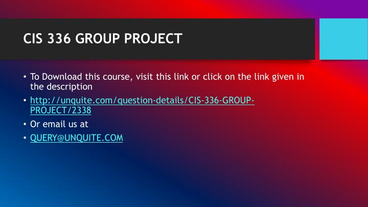Cis 336 group project1