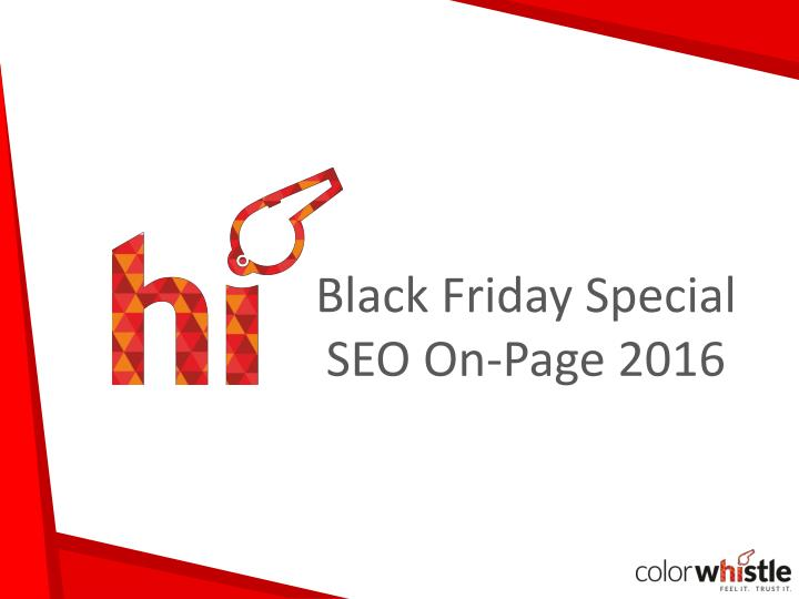 Black friday special seo on page 2016
