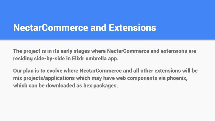 NectarCommerce and Extensions