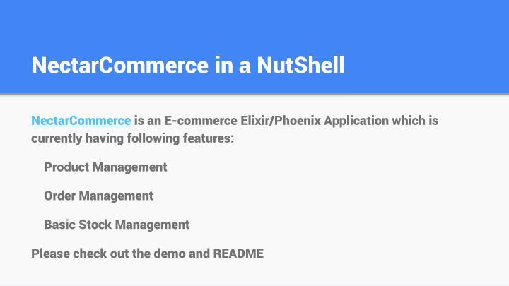 NectarCommerce in a NutShell