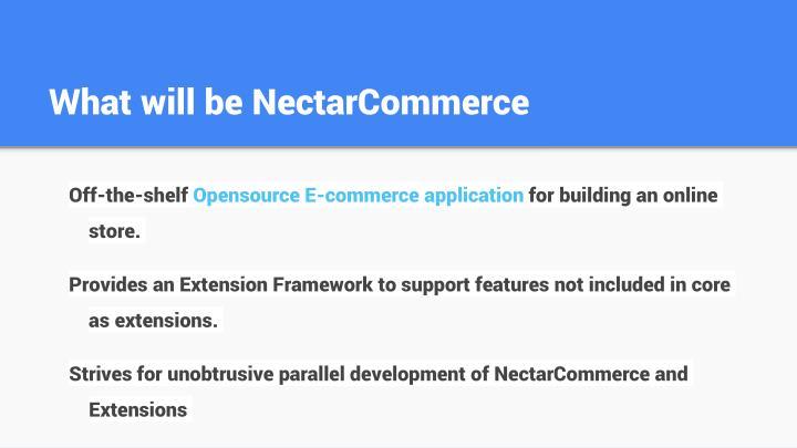 What will be nectarcommerce