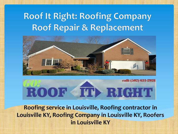 roof it right roofing company roof repair replacement n.