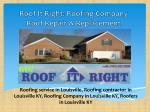 roof it right roofing company roof repair replacement