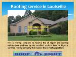 roofing service in louisville