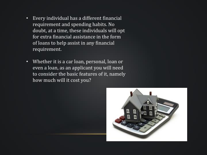 Every individual has a different financial requirement and spending habits. No doubt, at a time, the...