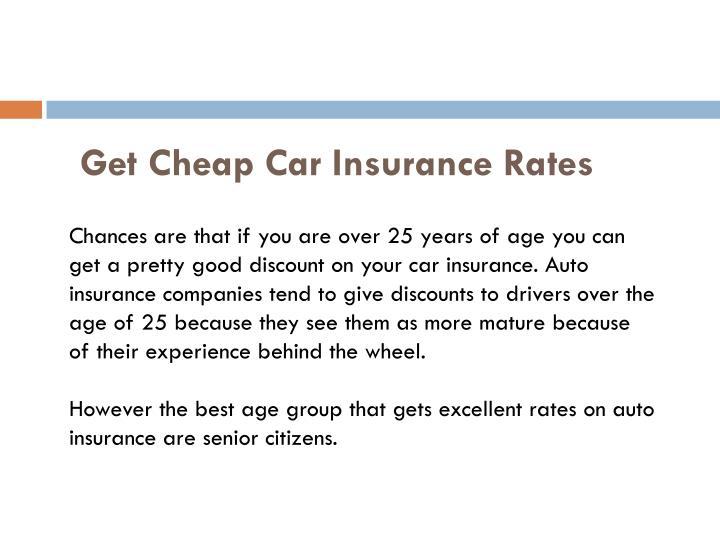 Get cheap car insurance rates