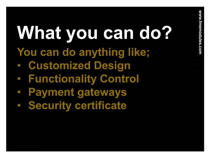 What you can do?