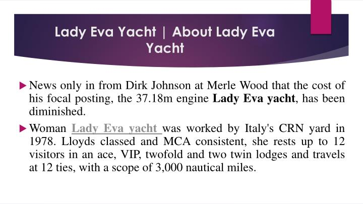 Lady eva yacht about lady eva yacht