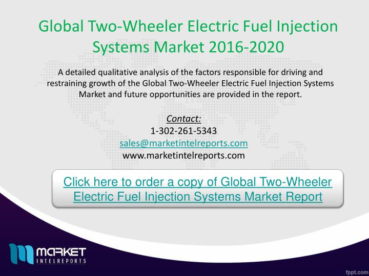 Global Two-Wheeler Electric Fuel Injection Systems Market 2016-2020